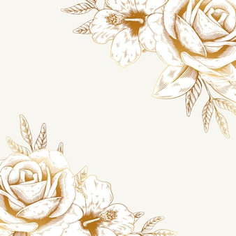 ヴィンテージの花の背景