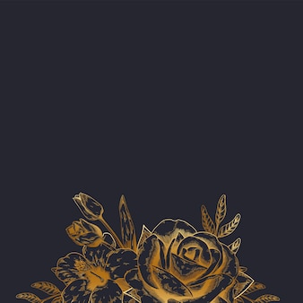 Винтажный цветочный фон