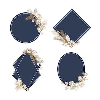 空白の花の招待コレクション