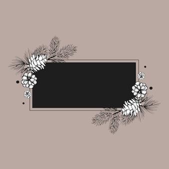 空白の花の招待状