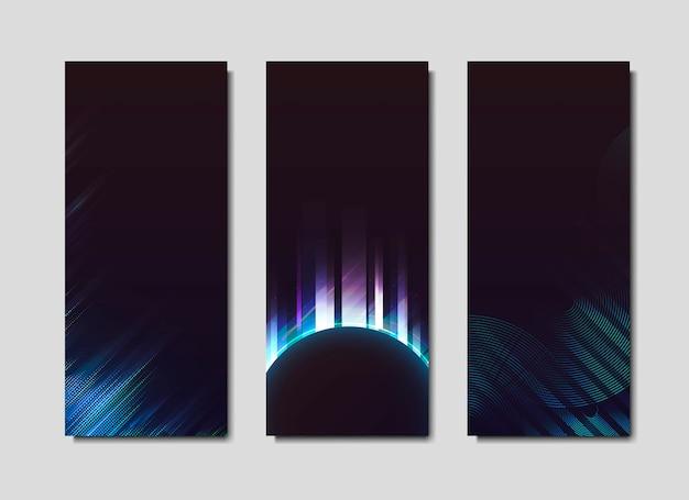 Плакаты с эффектом неонового света