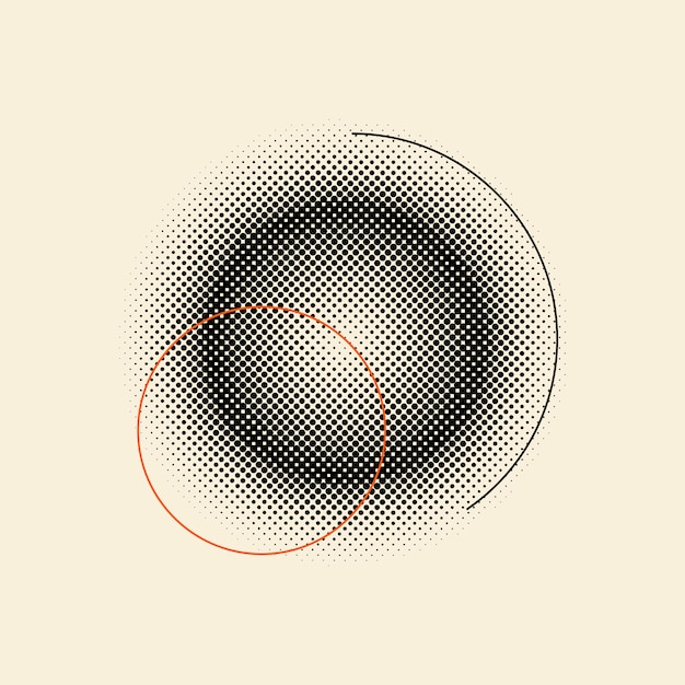 Черный старинный полутоновый значок на бежевом фоне вектор