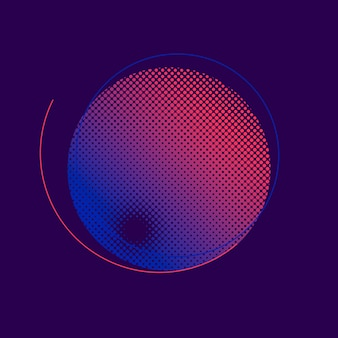 Фиолетовый и розовый полутоновых значок вектора