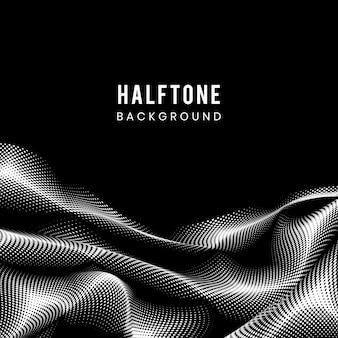 黒と白のハーフトーン背景ベクトル