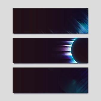 ネオンライト効果ポスター