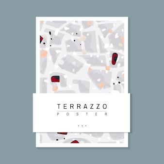 カラフルなテラッツォパターンのポスターベクトル