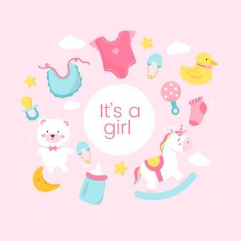 女の子の性別を明らかにする