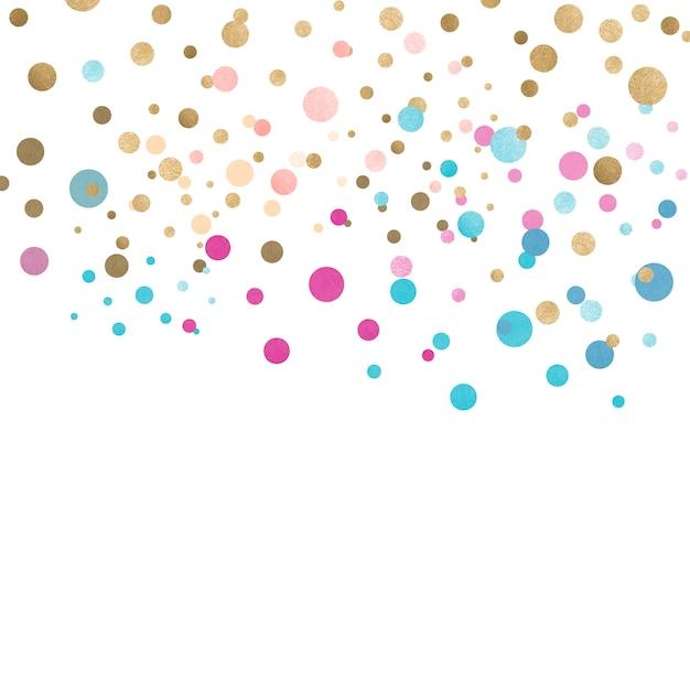 カラフルな色付きのお祝いのデザイン