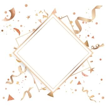 金色の紙吹雪のお祝いのデザイン