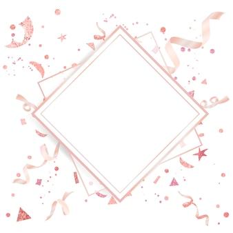 ライトピンクの紙吹雪のお祝いのデザイン