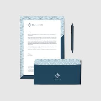 会社の封筒とレターテンプレート
