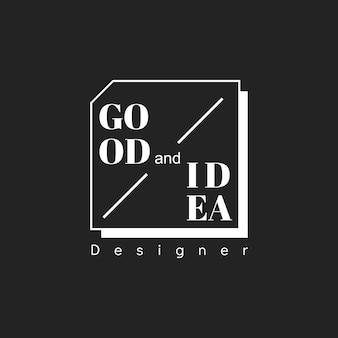 創造的なデザイナースタンプバナーのイラスト