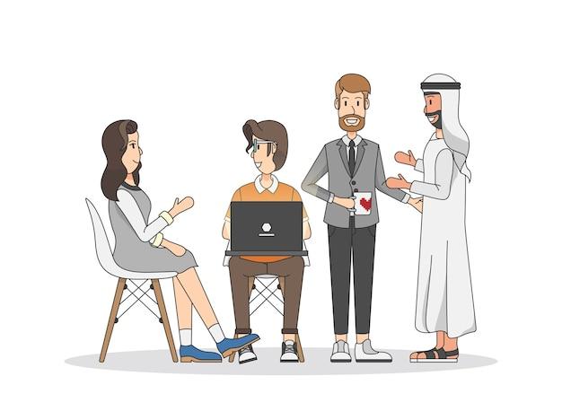 Иллюстрация людей, имеющих встречу