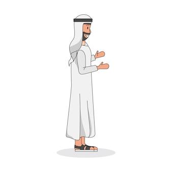 サウジアラビア人の男のイラスト