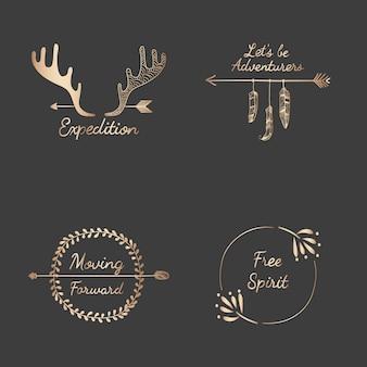 手描きの旅行デザインコレクション