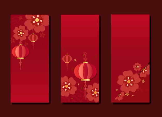中国の新年モックアップコレクション