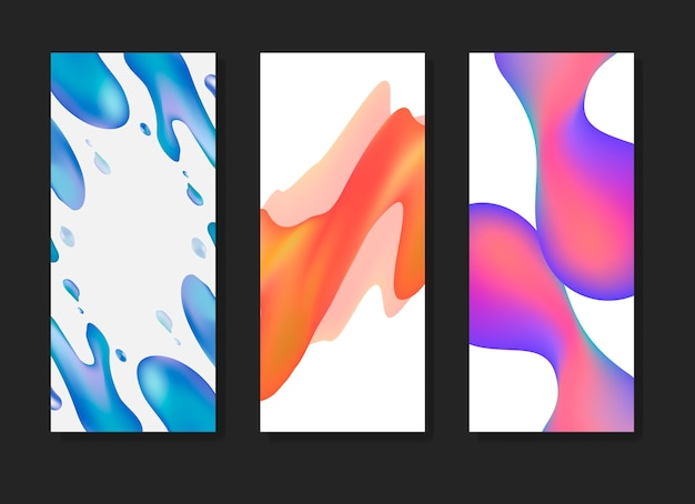 Флюид градиентные фоновые шаблоны
