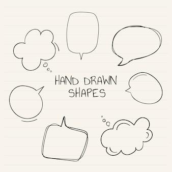 手描きの吹き出しコレクション