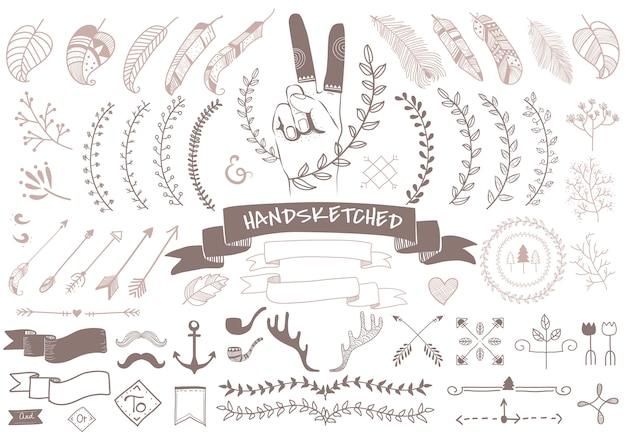 手描きの旅行デザイン
