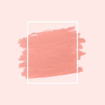 Розовый мазок кисти