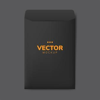 Бумажный конверт дизайн макет вектор