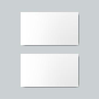 名刺デザインモックアップベクトル