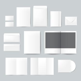 Набор печатных материалов конструкций макета вектора