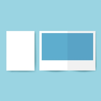 パンフレットデザインテンプレートモックアップベクトル