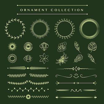 Концепция дизайна вектор коллекции украшений