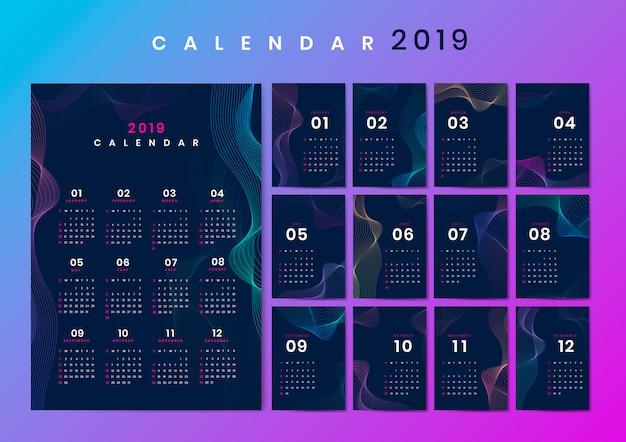 Контур дизайн макета календаря