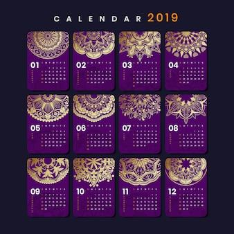 Мандала календарь макет