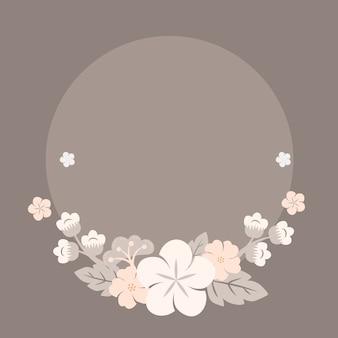 日本のパステル調の花のフレーム