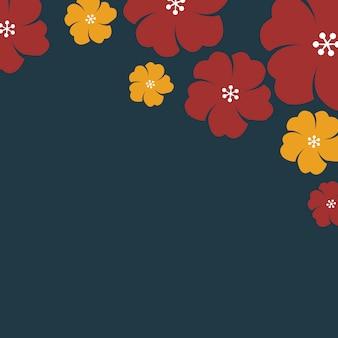 日本の花のフレーム