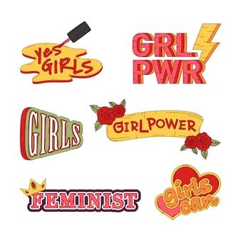 Коллекция силовых векторов девушки