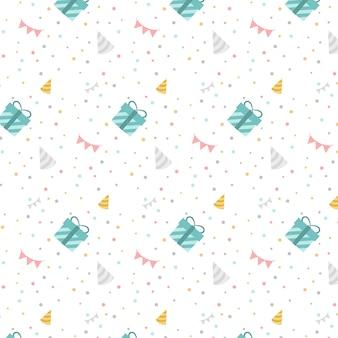 カラフルな誕生日水玉ベクトル