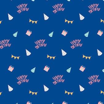 Синий праздничный день рождения дизайн вектор
