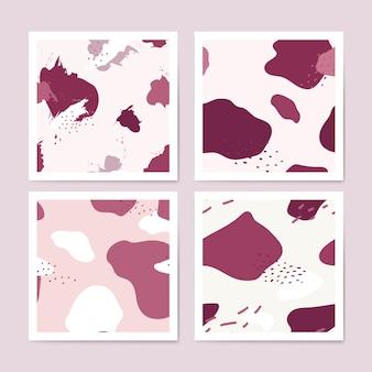 ピンクメンフィスパターンデザインベクトル