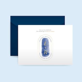 封筒ベクトルとロマンチックな結婚式の招待状