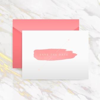 日付の招待カードのベクトルを保存