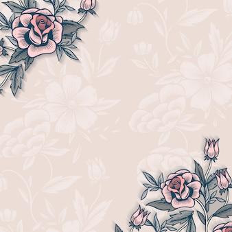 コピースペースと花の国境