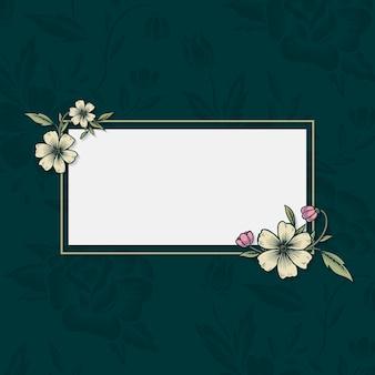 花のビンテージフレーム