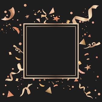 金の紙吹雪のお祝いデザイン