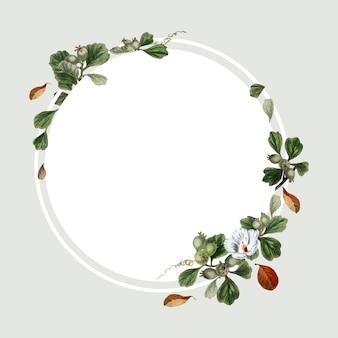 花のフレームデザイン