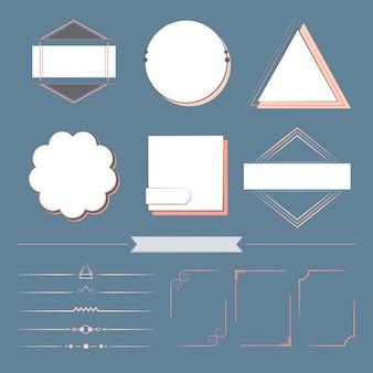 一連のデザイン要素ベクトル