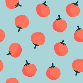 オレンジ色の青のシームレスなパターン背景ベクトル