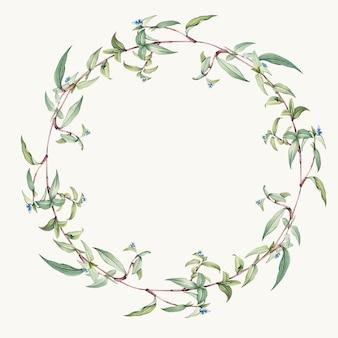 緑の葉の花輪デザインベクトル