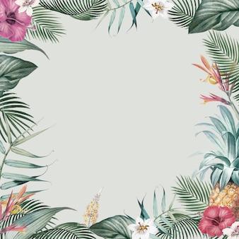 Рамка тропической листвы