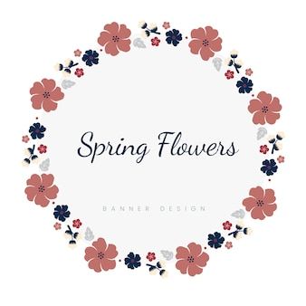 Японская рамка с цветами