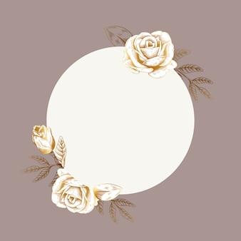 丸い花ラベル
