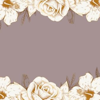 ビンテージ花の背景